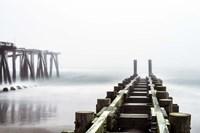 Fog On Piers Fine Art Print