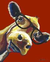 Cow Gertrude Red Fine Art Print