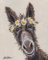 Donkey Rufus Flower Crown Fine Art Print