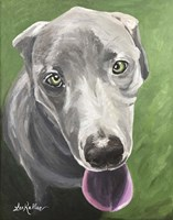 Great Dane Green Fine Art Print
