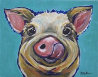 Pig Cesar Tongue Out Fine Art Print