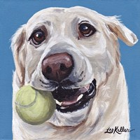 Yellow Lab Ball 2 Fine Art Print