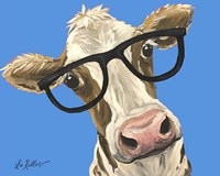 Cow Glasses Blue Fine Art Print
