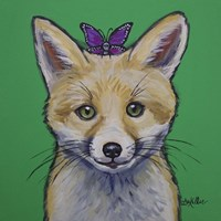 Fox With Butterfly Fine Art Print