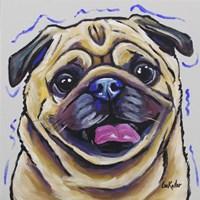 Pug Napoleon Fine Art Print
