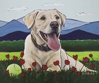 Yellow Lab 'Happy Place' Fine Art Print