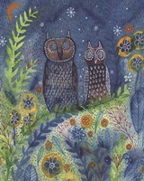 Two Owls Fine Art Print
