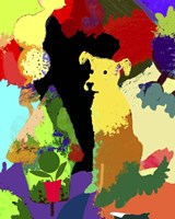 Dog With Abstract Background Fine Art Print