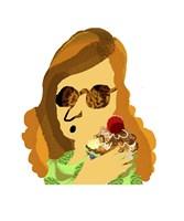 Lady With Cupcake Fine Art Print
