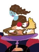 Lady And Pretty Cake Fine Art Print