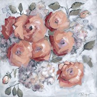 Hydrangeas and Roses Floral Party Fine Art Print