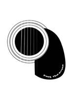Black and White Minimalist Guitar D Fine Art Print