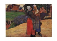 "Breton Peasant Woman by Paul Gauguin - 28"" x 20"""