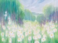 Through The Daisies To The Sea Fine Art Print