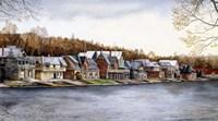 Boat House Row Fine Art Print