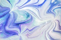 Fluid Acrylic Blue Turquoise Fine Art Print