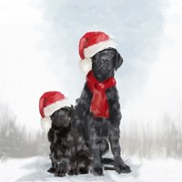 Christmas Dogs Fine Art Print