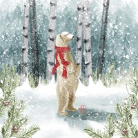 Snow Polar Bear Fine Art Print