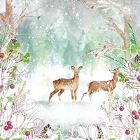 Two Deer Woods Fine Art Print