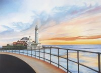 St Marys Lighthouse Fine Art Print
