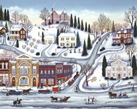 Winter Town Fine Art Print