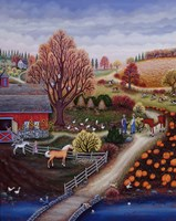 Autumn Farm Fine Art Print