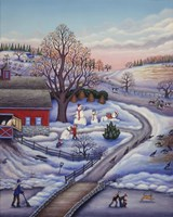 Winter Farm Fine Art Print