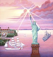 Statue of Liberty Sunset Fine Art Print