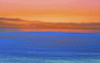 Lake Superior Sunset Orange Fine Art Print