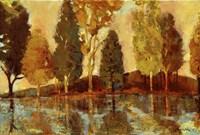 Trees On The Lake Fine Art Print