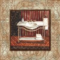 Bordo Vintage Bathroom Sink Fine Art Print