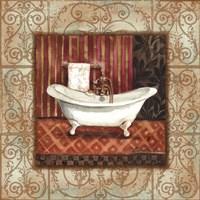 Bordo Vintage Bathroom Tub Fine Art Print