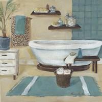 Cheetah Pattern Bath I Fine Art Print