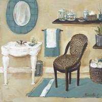 Cheetah Pattern Bath II Fine Art Print