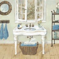 French Country Bathroom I Fine Art Print
