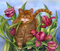 Tango In The Tulips Fine Art Print