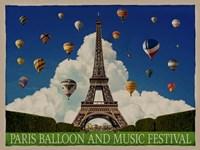 Paris Balloon Music Fest Fine Art Print