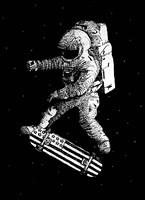 Kickflip In Space Fine Art Print