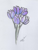 Purple Tulips Fine Art Print