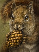 Squirrel Totem Fine Art Print
