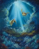 Gliding Through the Deep Blue Fine Art Print