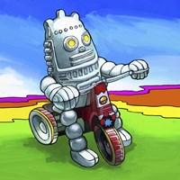Robot Biker Fine Art Print