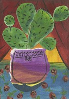Prickly Pear in Purple Pot Fine Art Print