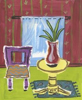 Sunroom with Vase Fine Art Print