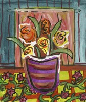 Flowers in Purple Pot Fine Art Print