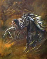 Indian And Horse Fine Art Print