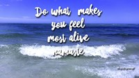 Do What Makes You Feel Most Alive Fine Art Print