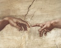 The Creation of Adam (Detail) Fine Art Print