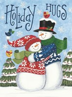Holiday Hugs Snowmen Fine Art Print