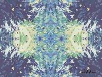 Blue Ocean Mandala Fine Art Print